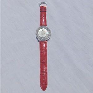 Geneva | Rhinestone Leather Watch